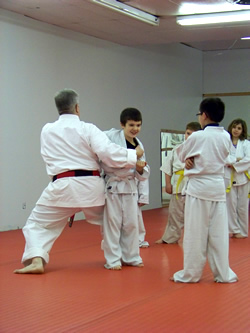 sensei Kreh demonstrates a defensive throw
